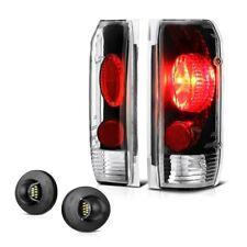 87-96 Ford F-Series Bronco Black Altezza Tail Brake Lamp LED License Plate Light