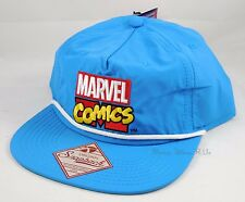 New Marvel Comics Logo Snapback Hat Ball Cap Embroidered With White Rope Bill