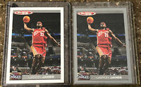 2005 Topps Total LeBron James #4 White/Silver Two Card Set, Mint!