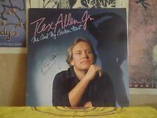 REX ALLEN JR, ME AND MY BROKEN HEART - AUTOGRAPHED LP BSK 3300