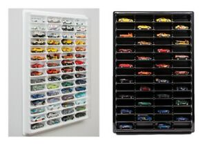 Plastic Display For Hot Wheels +LID Diecast Car Matchbox 1/64 Unit Shelf Storage