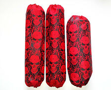 Shock Covers Yamaha YFZ450 Red Skulls YFZ 450 ATV 04-09 Set 3