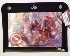 "Marvel Avengers Age Of Ultron Boy's Kids School Pencil Case 10.5 x 8"" NWT"