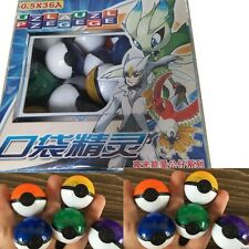 36Pcs/Lot ABS classic Anime Action Figures colorful Pokemon balls Kids Toys Gift
