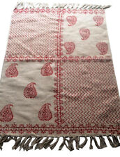 Thicker 152x91cm Cotton Red Paisley Floor Rug Kids Play Game Mat Room Carpet 3x5