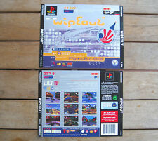 WIPEOUT (1995) PLAYSTATION 1 COVER ORIGINALE, NO DISCO