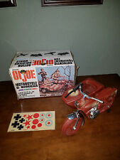 Vintage 1966 GI Joe Irwin Motorcycle Sidecar with Box Original Decal Sheet