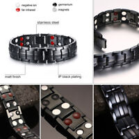 4 in 1 Strong Magnetic Therapy Bracelet Men Relief Pain Health Bio Arthritis