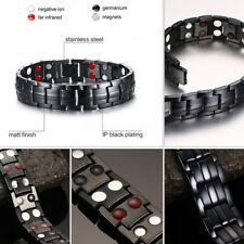 4 in 1 Strong Magnetic Therapy Bracelet Men Relief Pain Health Bio