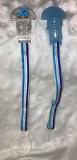 Vintage Mam Mini Ulti Pacifier Clips/Holders-Blue Bear/Solid Blue RARE!!!