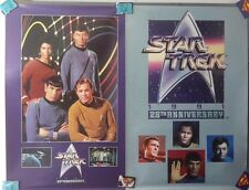 Special! Star Trek 25th Anniversary Poster Set of 2- Unused Rolled (Svpo-01/02)