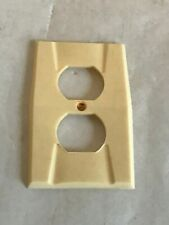 Vintage Homart Art Deco Wall Duplex Outlet Plate Ivory