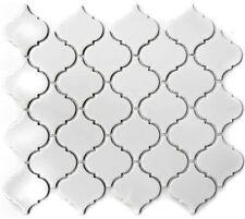 Keramikmosaik Florenz uni weiß glänzend Fliesenspiegel Küche Art:13-1WG 10Matten