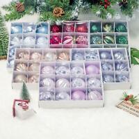 12pcs Boules de Noël Set Cimier Boules de Noël Jusqu'à Ø 6 cm Noël