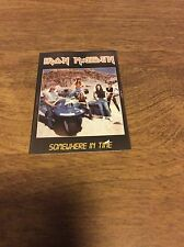 """Iron Maiden Somewhere In Time Photo Card Approximately 2-1/4"""" X 3-1/2""""!!!"""