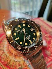 Squale GREEN aka HULK aka MINT Y1545 20 Atmos Ceramic - SEL Bracelet - NEW
