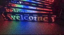 Außen LED-Laufschrift 100x20 Multi-color WiFi Werbetafel programmierbar