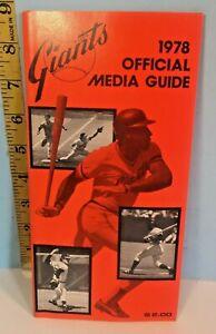 1978 San Francisco Giants Baseball Media Guide