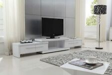 Hi-Gloss Lowline Tv Entertainment Unit Cabinet - Extendable 2.1M - 2.8M RRP$1119