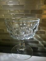 4 Arcoroc Crystal 'Artic' Set of 4 Champagne / Sherbet Crystal Glasses Cocktail