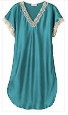 SHADOWLINE VINTAGE LACE Trim Sleepshirt Shimmering Emerald Green 4503 Sz Small