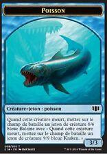▼▲▼ Jeton Poisson / Zombie bleu */* (Token Fish) Commander 2014 #008 #011