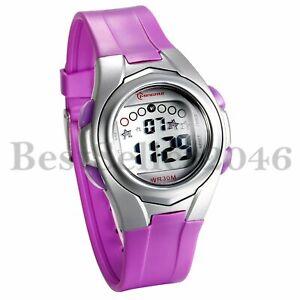 Mädchen Outdoor Sport Alarm Multifunktions LED Digital Kinder Armbanduhr