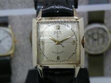 Doctor's Dial Vintage 1950's Men's Elgin DeLuxe Automatic 17 Jewel Watch Runs