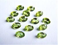 Peridot Olivin  oval   7 x 5 mm   ca 0,85 Carat