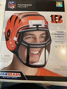 Cincinnati Bengals FANHEAD HELMET NFL Adjustable  Fan Head Tail Gate