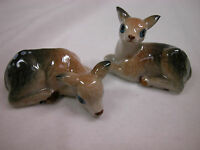 Porcelain Miniature Animal Tracks Deer Baby Fawn Pair #FOR703