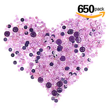 Purple Buttons, 650 Resin Buttons, Buttons 4 Holes, Buttons 2 Holes, DIY Button