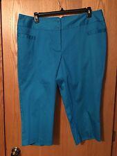 Lane Bryant Woman's New Crop Pants Color JBL NWT