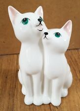 """John Beswick Little Likeables Cats Chorus white cute 5"""" tall Collectable 1984"""