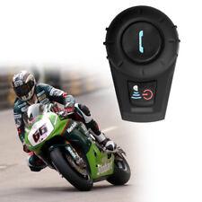 BT Motorcycle Helmet Bluetooth Headset Motorbike Intercom Headset 500M GPS Mp3