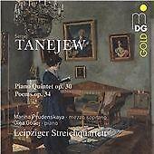 Taneyev: Piano Quintet Op. 30; Poems Op.34, Marina Prudenskaya; Olga Gollej; CD