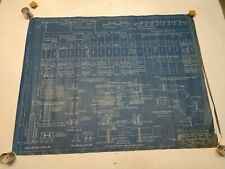 Reclaimed Vintage Cloth Blueprint Drawing, RCA 1939 Addition columns & footings.
