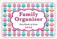 2018 Owls family organiser calendar - one week to view - ST-9302