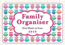 2018 Owls family organiser calendar - one week to view - ST-9302