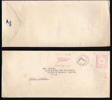 GB METER FRANKING 1948 BOAC AIRLINE + PRINTED FLAP ENVELOPE