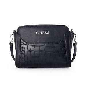 Womens Gata Croc-Embossed Pattern 2 Colors AMini Crossbody Messenger Handbag