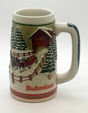 1988 Budweiser Collectible Holiday Beer Stein Anheuser Busch Clydesdales