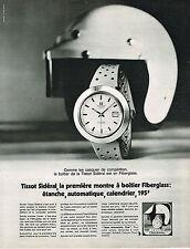 PUBLICITE ADVERTISING 035  1971  TISSOT  montre SIDERAL FIBERGLASS AUTOMOBILE CL
