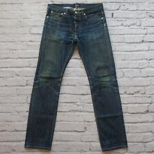 APC Petit Standard Distressed Selvedge Denim Jeans Size 30 31 Faded Destroyed