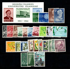 Iceland 1947-59 MNH 100% Europe CEPT, Christmas, Map, Flowers