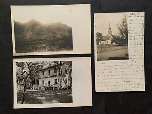 RARE LOT x3 HAWAII 1906 RPPC PHOTO POSTCARDS ! CHURCH USED WITH POSTMARKS+! L@@K