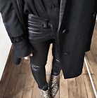 THE KOOPLES Pantalon en cuir Stretch Leather Trousers Audrey Lombard NWT 645€
