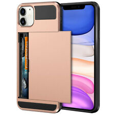 For iPhone 11 Pro X XS Max XR Shockproof Armor Card Pocket Wallet Case Cover