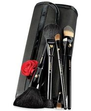 *New* LANCOME PARIS ESSENTIAL MAKEUP ARTIST BRUSH SET WITH ROSE 5 BRUSHES+CASE