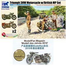 Bronco Model kit 1/35 Triumph 3HW Motorcycle w/British MP set(1+1) #CB35035